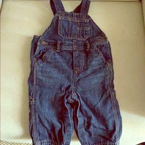 Baby Gap dark wash overalls